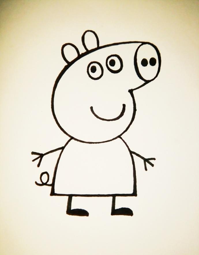 超流行的手绘教程——小猪佩奇简笔画!